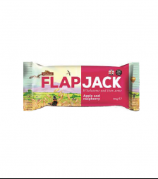 Flapjack apple and raspbe