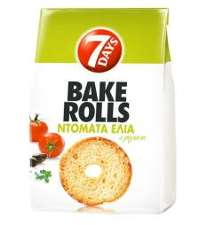 7Days Bake Rolls ντομάτα ελιά και ρίγανη