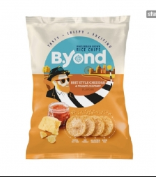 BYOND rice chips cheddar and tomato 70gr