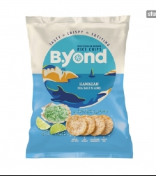 BYOND rice chips sea salt and lime 70gr