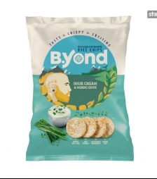 BYOND rice chips sour cream and nordic chive 70gr