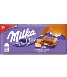 Milka 100gr peanut crispy